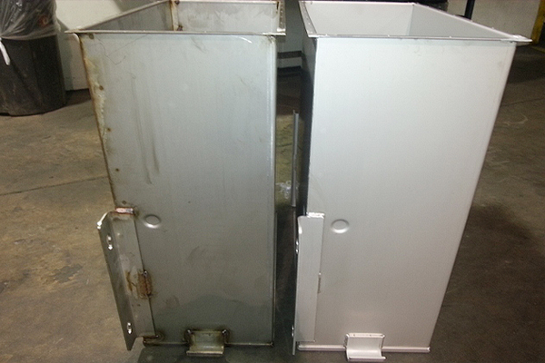 304 stainless steel before and after pickle passivate